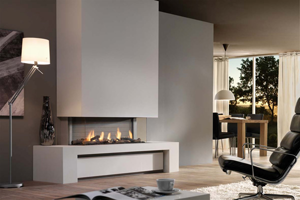 Metro 100XT 3 sided frameless fire